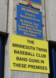 No Guns Allowed at the Metrodome