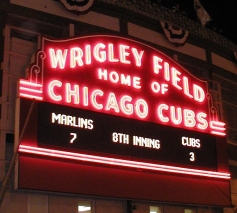 Wrigley Field Marquee, 2003 NLCS