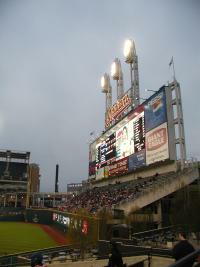 Jacobs Field scoreboard